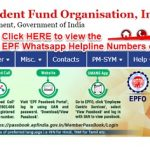 EPF Whatsapp Helpline Numbers - Full list of Regional Offices