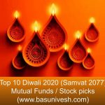 Top 10 Diwali 2020 (Samvat 2077) Mutual Funds / Stock picks
