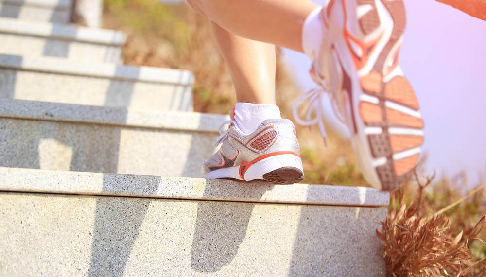 Climb stairs to stay in shape