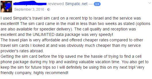 sim card for israel
