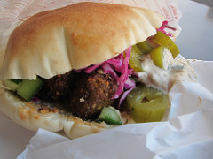 find the best falafel restaurant in Israel