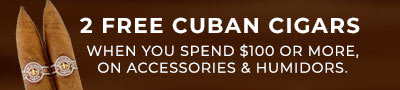 two free cuban cigars