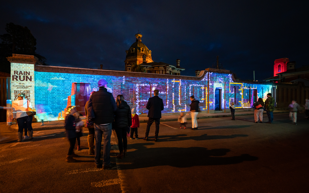 Bathurst Winter Festival Esem Projects with Rain Run by Code on Canvas
