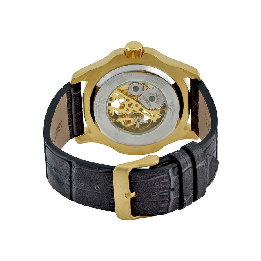 Invicta-Specialty-Mechanical-Skeleton-Men-039-s-Leather-Watch thumbnail 7
