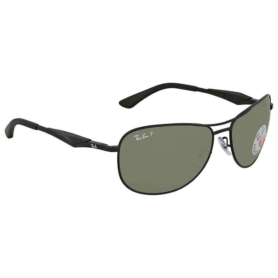ab168de1842 Ray Ban Green Aviator Polarized Sunglasses RB3519 006 9A 59 RB3519 ...