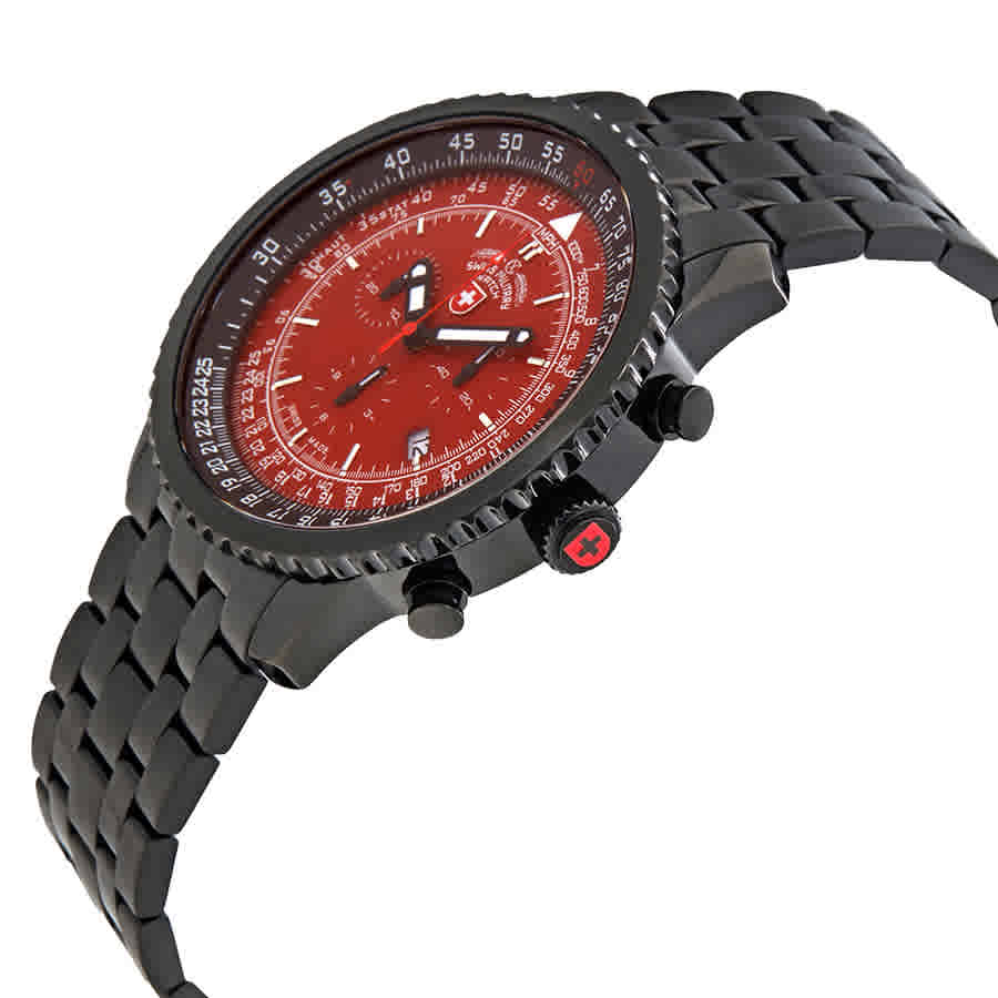 Swiss-Military-Thunderbolt-Men-039-s-Chronograph-Watch-Choose-color thumbnail 45