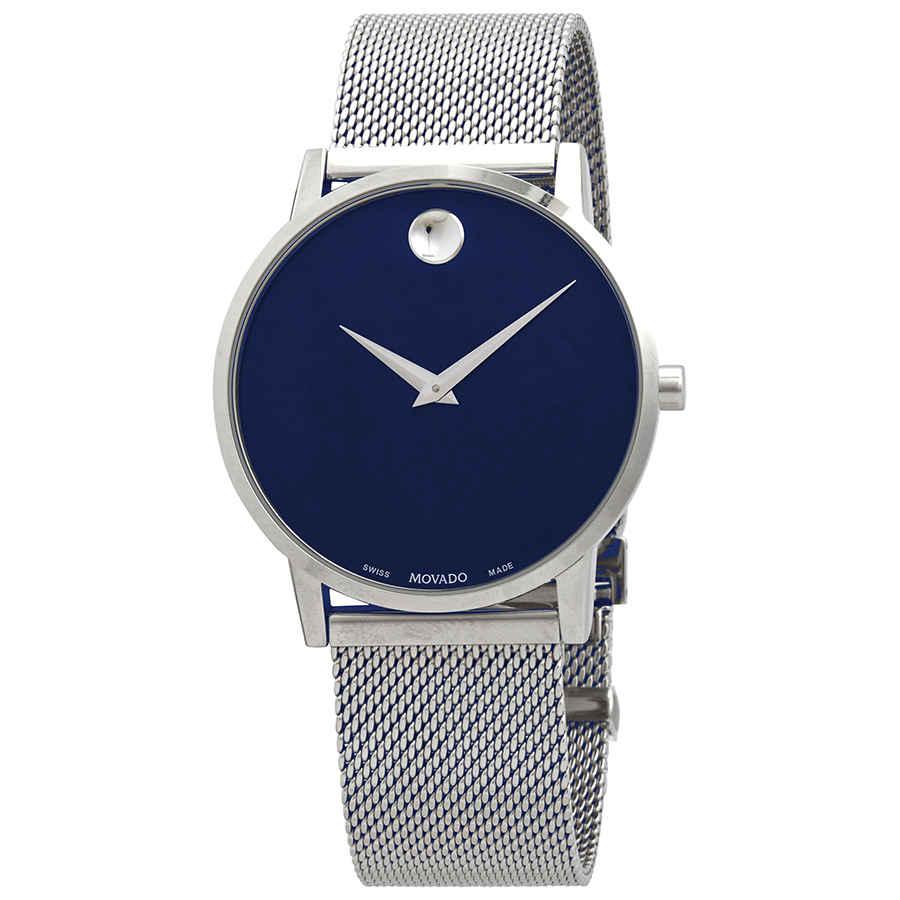 Details About Movado Museum Classic Quartz Blue Dial Men S Watch 0607349