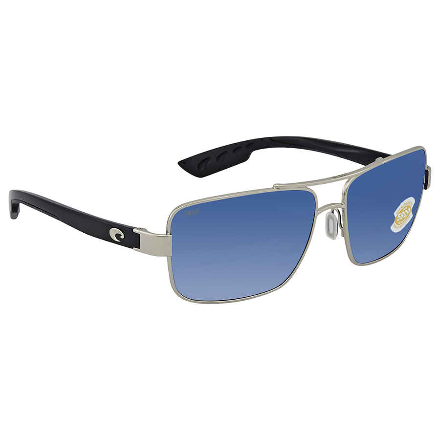 a32bbaa2bc5 Details about Costa Del Mar North Turn Blue Mirror Polarized Plastic  Aviator Sunglasses NTN 21