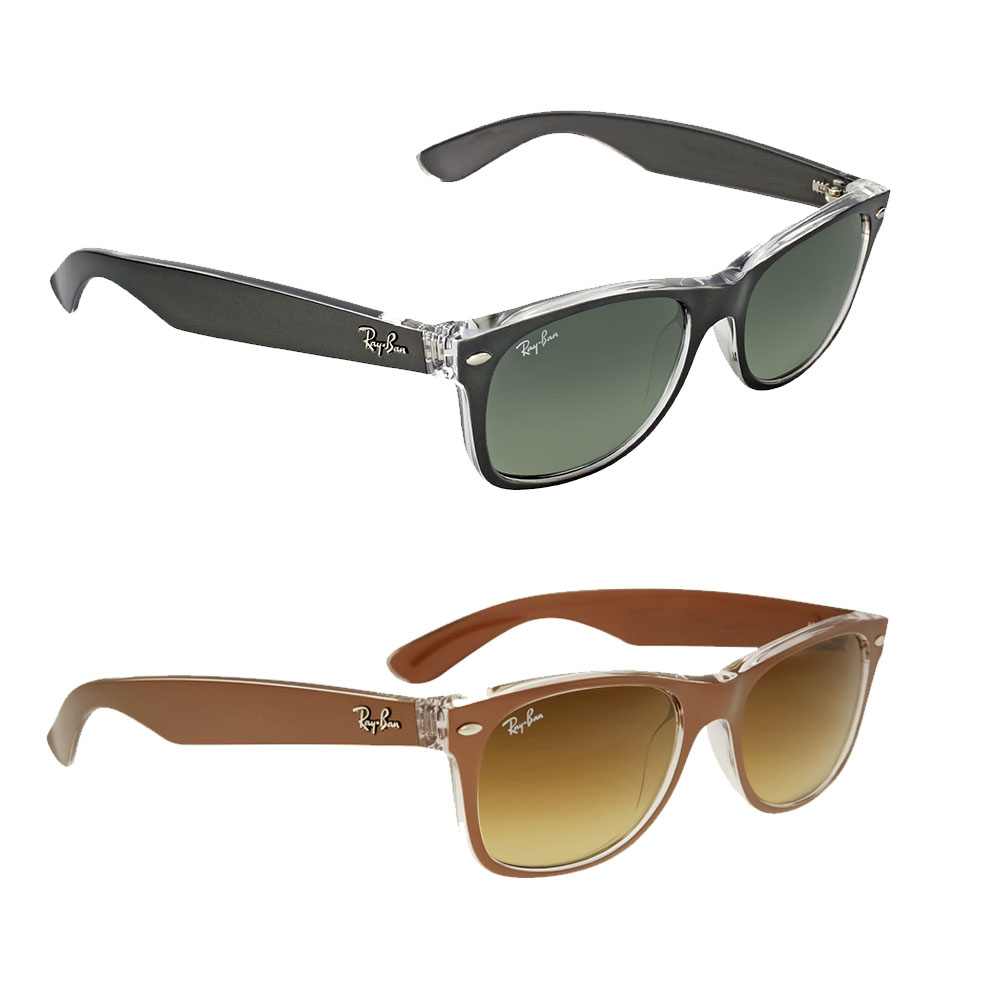 bda2e378e10b Ray Ban New Wayfarer Brown Gradient Men's Sunglasses RB2132 614585 52