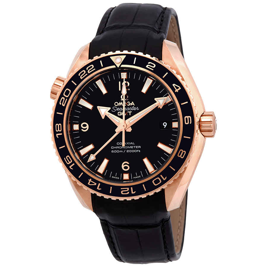 Omega Seamaster Planet Ocean 18kt Rose Gold GMT Automatic ...