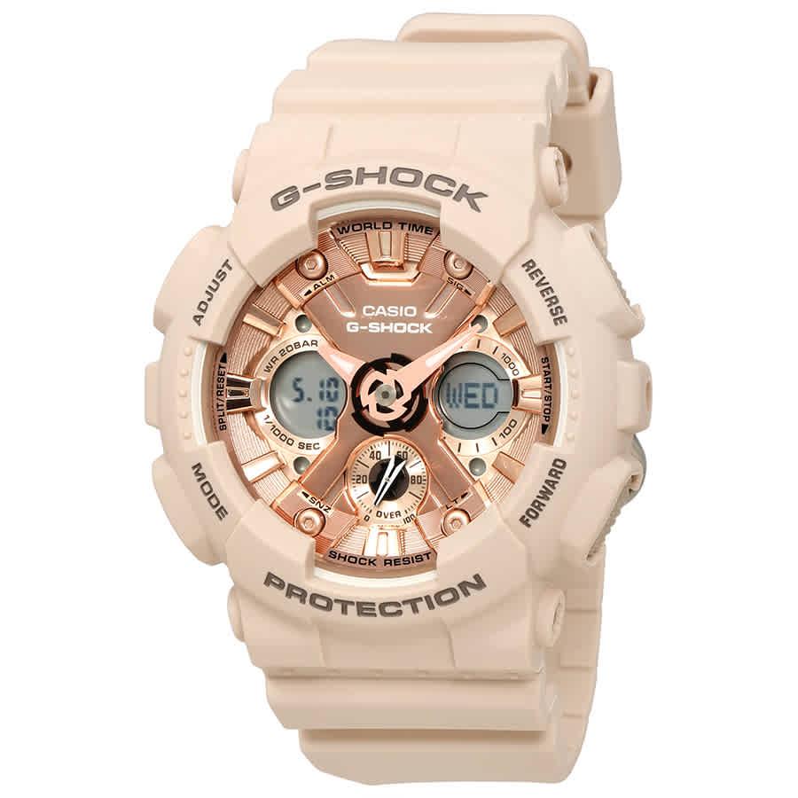 8eda2040e47 Casio G-Shock Rose Gold-Tone Dial Unisex Watch GMA-S120MF-4ACR ...