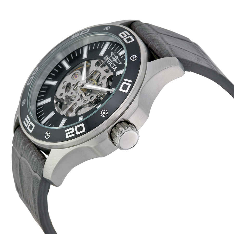 Invicta-Specialty-Mechanical-Skeleton-Men-039-s-Leather-Watch thumbnail 14