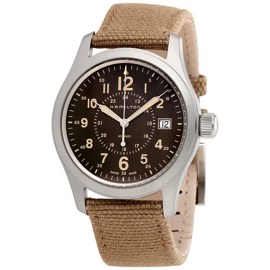 e4be5f74dfe Hamilton Khaki Field Brown Dial Men s Watch H68201993 758501654443 ...