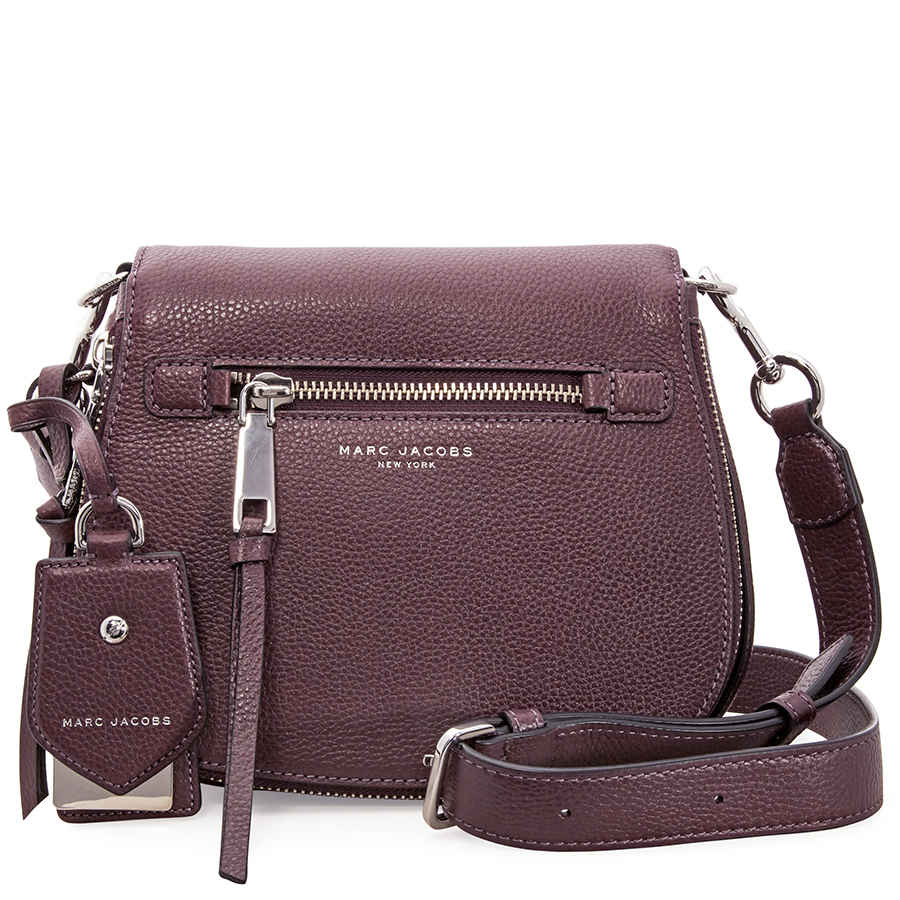 01fd1b50186e Marc Jacobs Recruit Nomad Small Pebbled Leather Saddle Bag- Blackberry
