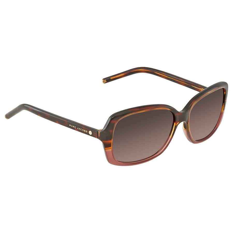6bc4853de4a0 Marc Jacobs Brown Gradient Rectangular Ladies Sunglasses MARC 67/S 002A HA  57