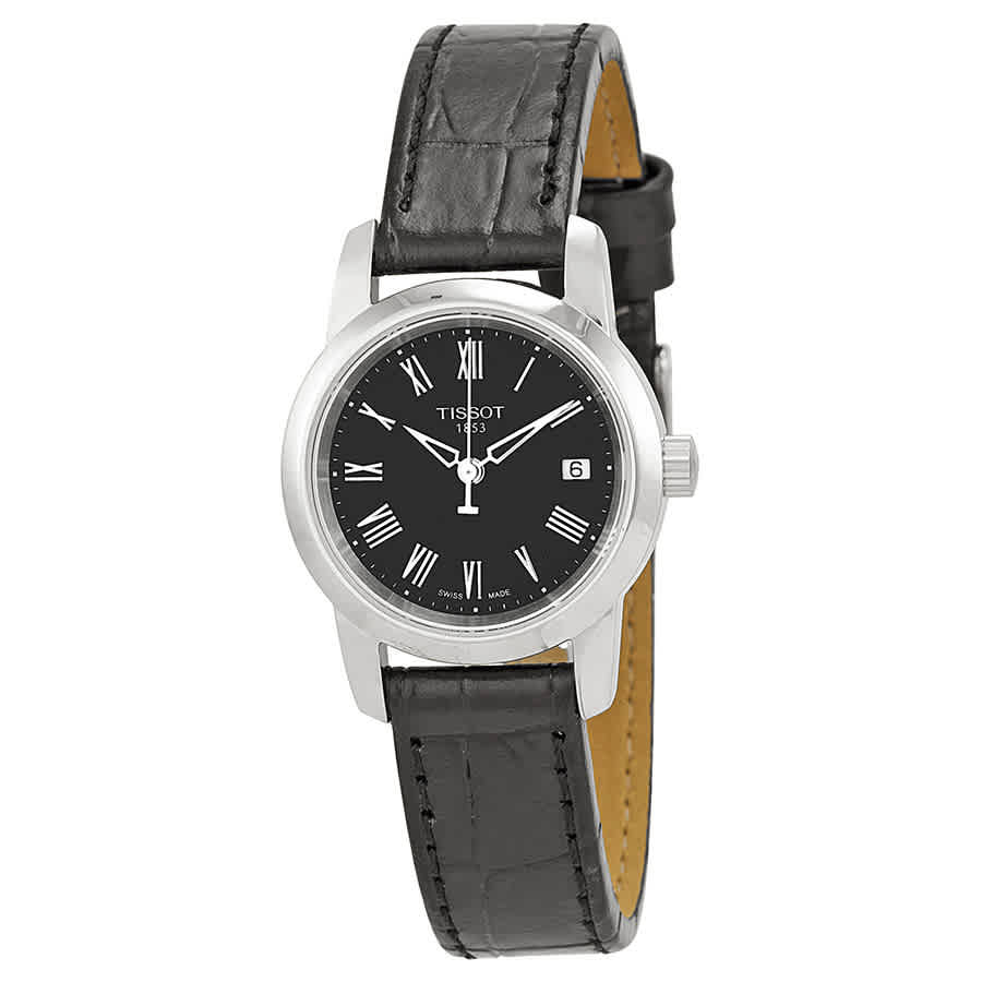 80ca72eaddd Tissot Classic Dream Black Dial Ladies Watch T0332101605300 ...