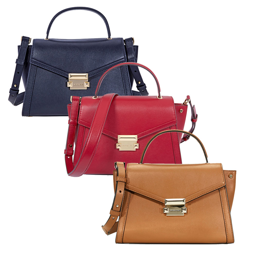 06b632ca5f9cf Michael Kors Whitney Medium Leather Satchel - Choose color