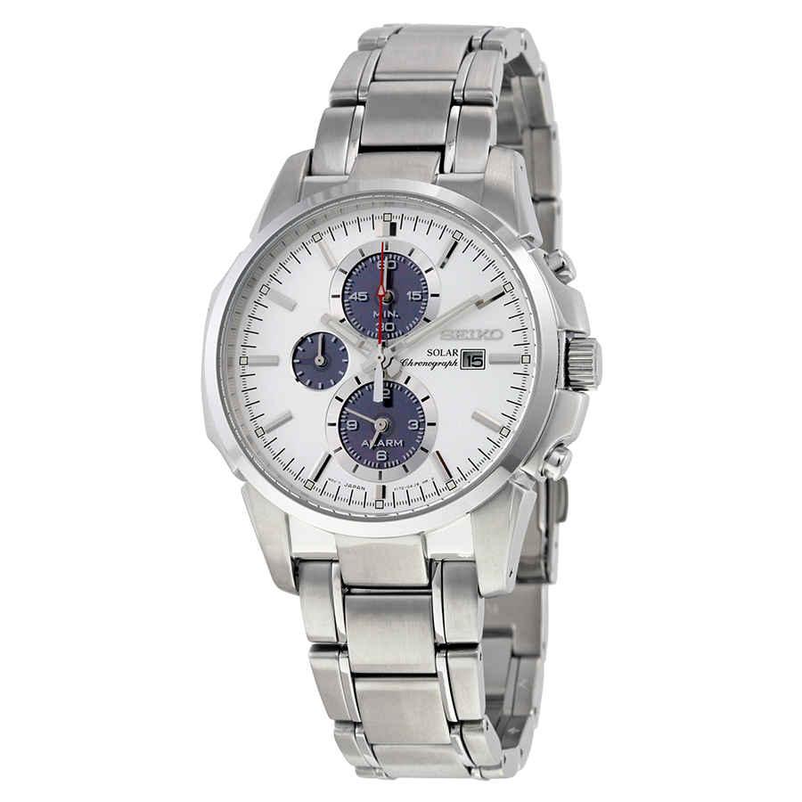 80531d47e Seiko Prospex Solar Alarm Chronograph White Dial Men's Watch SSC083 ...