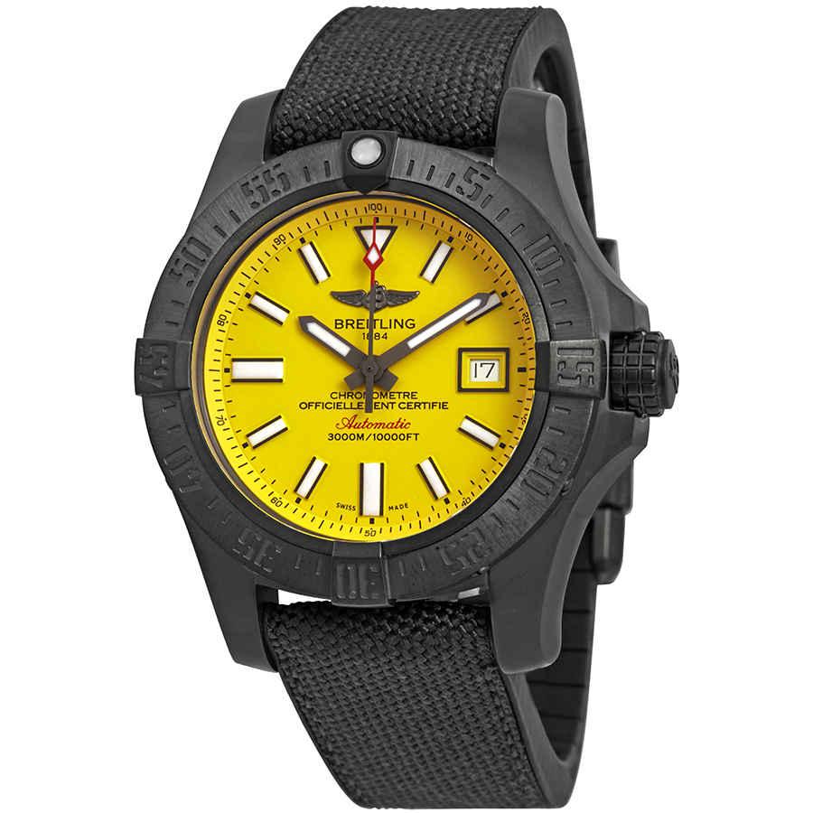 833735b41a3 Breitling Avenger II Seawolf Yellow Dial Automatic Men s Watch