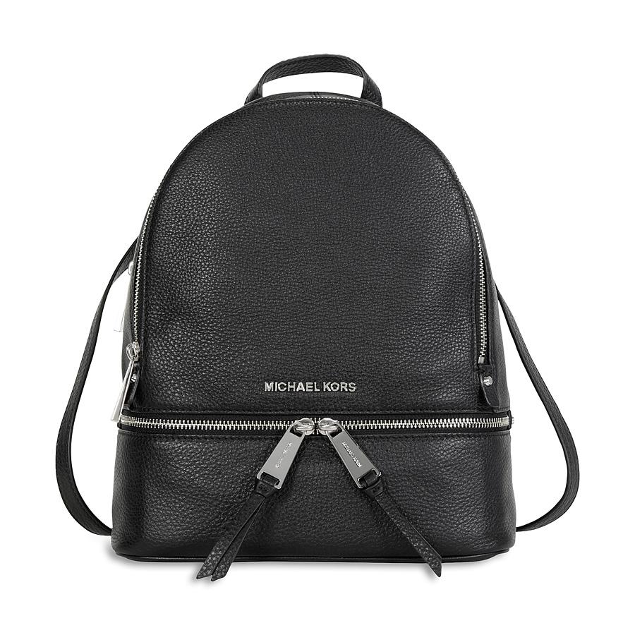 974b0077f8d8a7 Michael Kors Rhea Leather Backpack - Black 30S5SEZB1L-001 ...