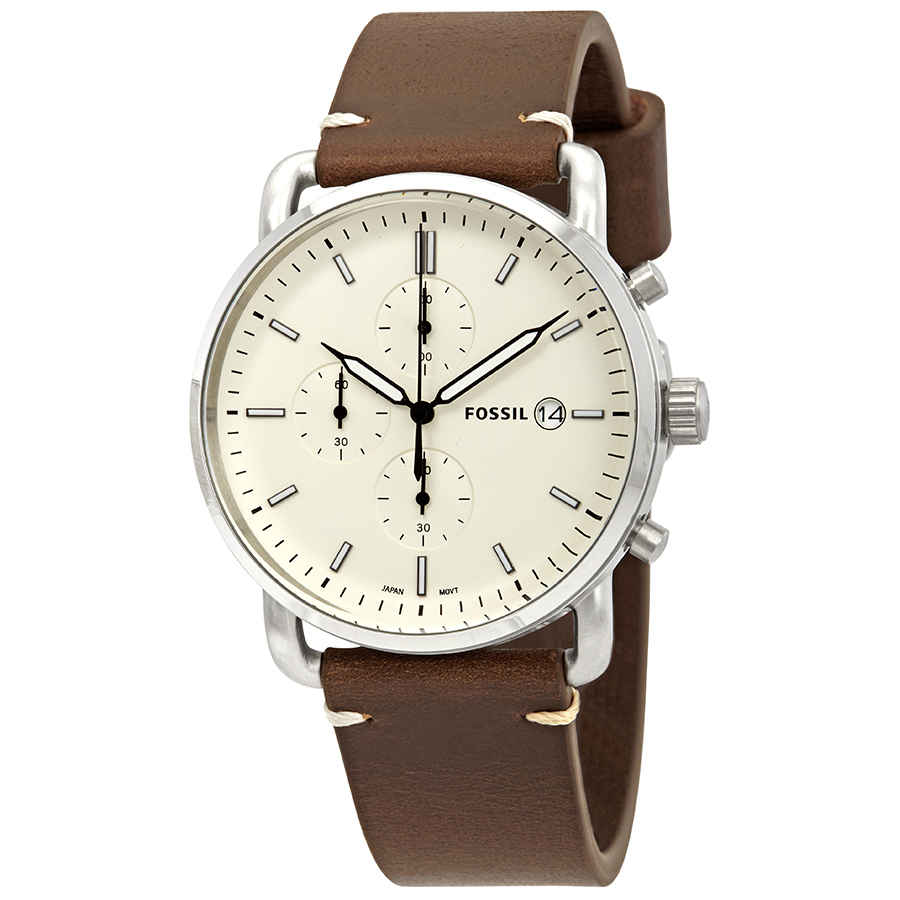 94de9d28e32 Fossil Commuter Chronograph Cream Dial Men s Watch FS5402 ...