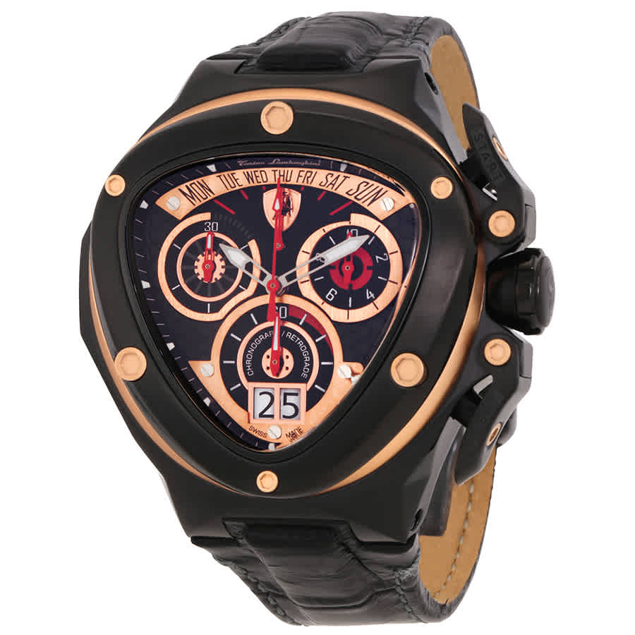 Tonino Lamborghini Spyder 3000 Chronograph Black Dial Leather Men S