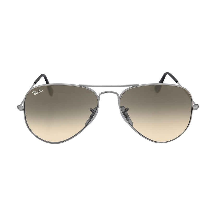 2258f81d49b Ray-Ban Aviator Metal Silver Grey 55mm Large Sunglasses RB3025 003 32 55-17
