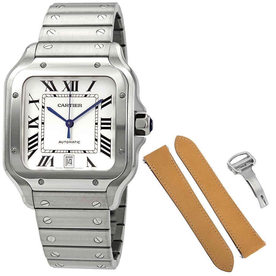 3335e5414 Cartier Santos De Cartier Large Automatic Men's Watch WSSA0009   eBay