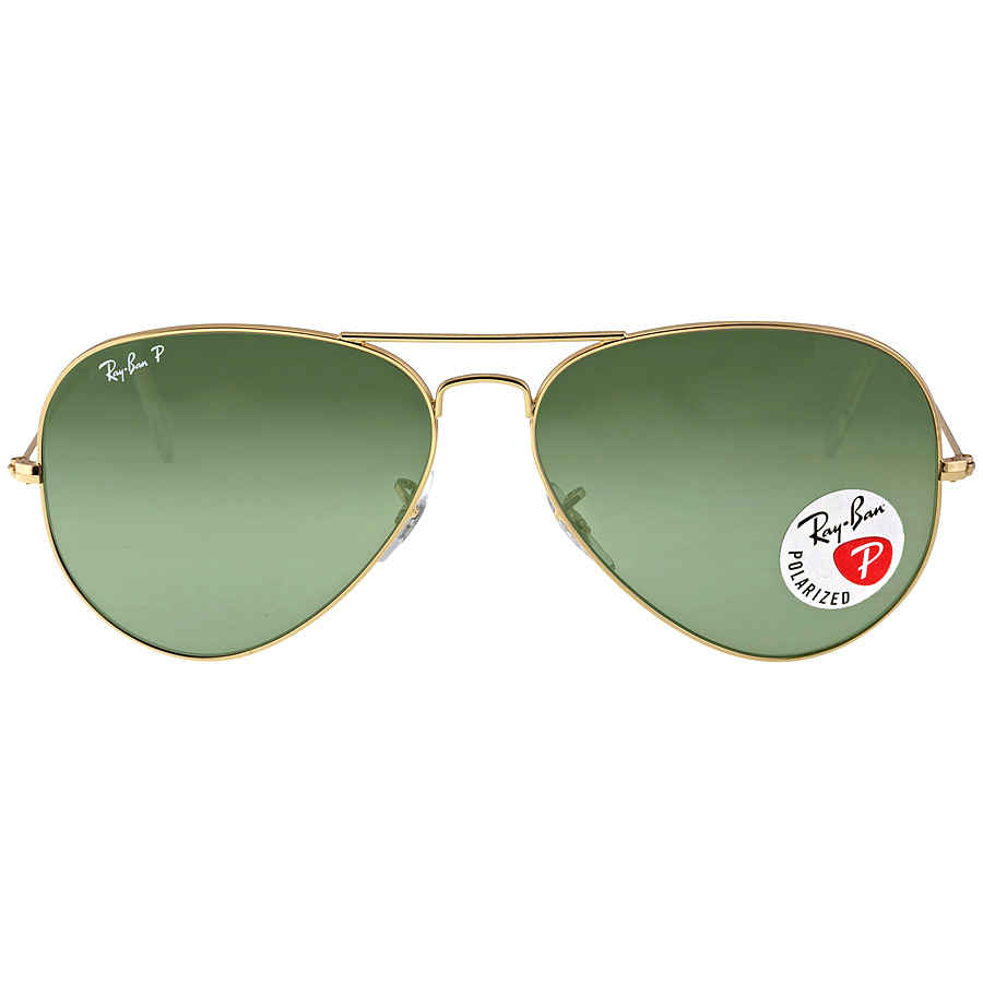 Ray-Ban Aviator Green Polarized Lenses Sunglasses RB3025 001 58 62 ... da634bb7966b