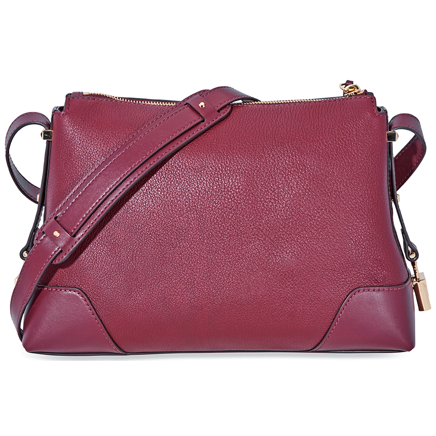 Michael-Kors-Crosby-Medium-Pebbled-Leather-Messenger-Bag-Choose-color miniatura 22