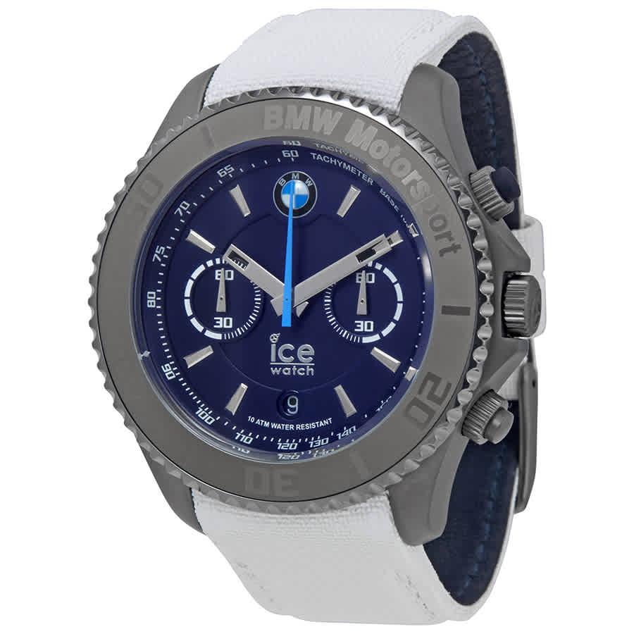 acheter en ligne 5d49d 8e0ba Détails sur Ice-Montre BMW Motorsport XL 53 mm Chronographe Cadran Bleu  Men's Watch- afficher le titre d'origine