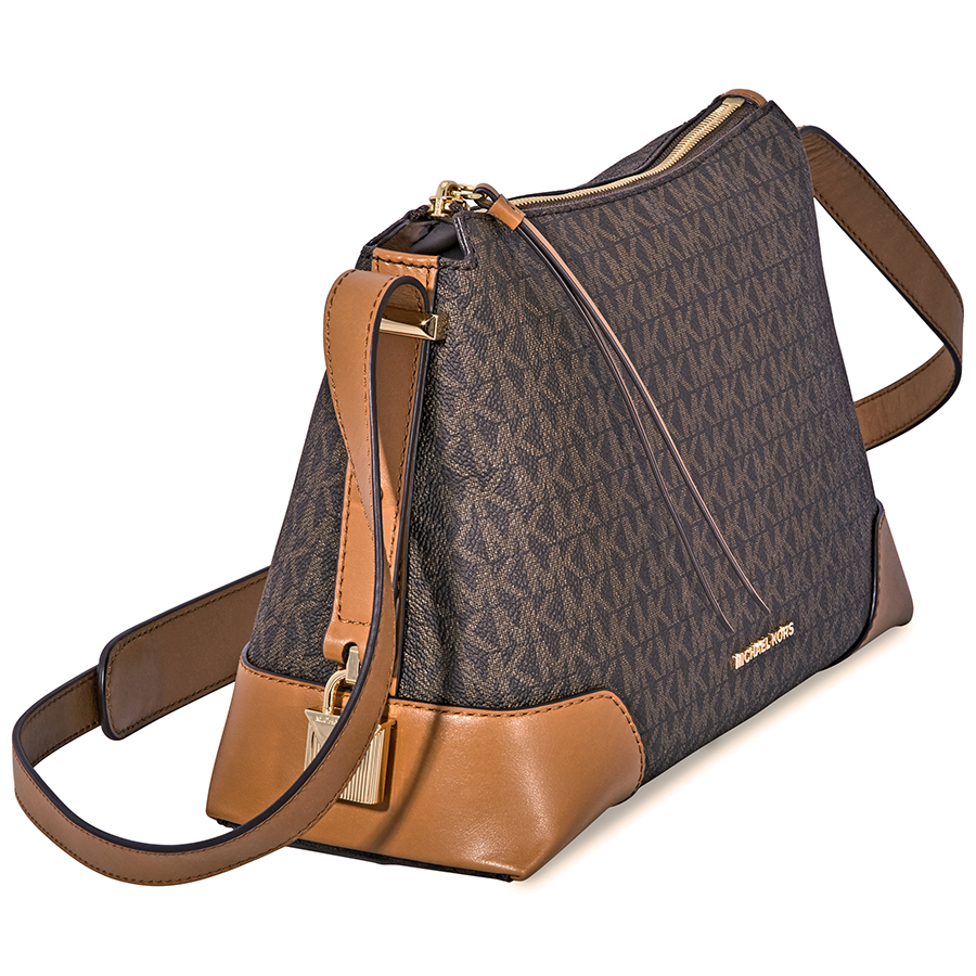 Michael-Kors-Crosby-Medium-Pebbled-Leather-Messenger-Bag-Choose-color miniatura 15