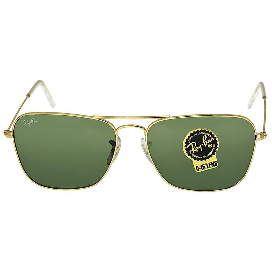0e2b0318db3 Ray-Ban Caravan Arista Frame Green Lens Sunglasses RB3136 001 58-15 ...