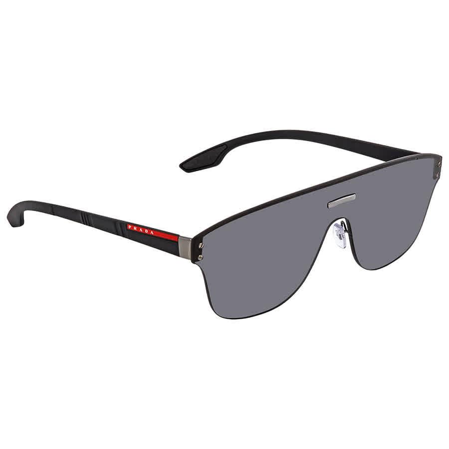 a17d4fab321 Prada Linea Rossa Grey Rectangular Men s Sunglasses PR PS57TS 5S05S0 ...