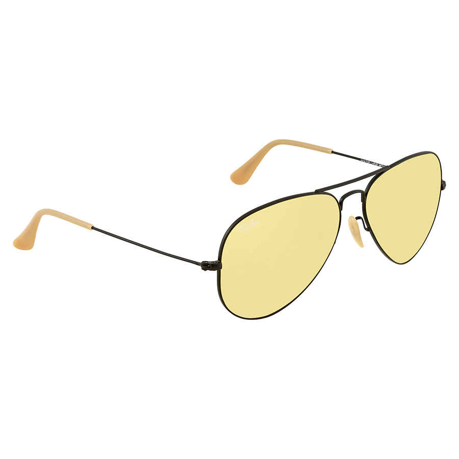 Ray Ban Aviator Evolve Yellow Photocromic Aviator Sunglasses RB3025 90664A  58