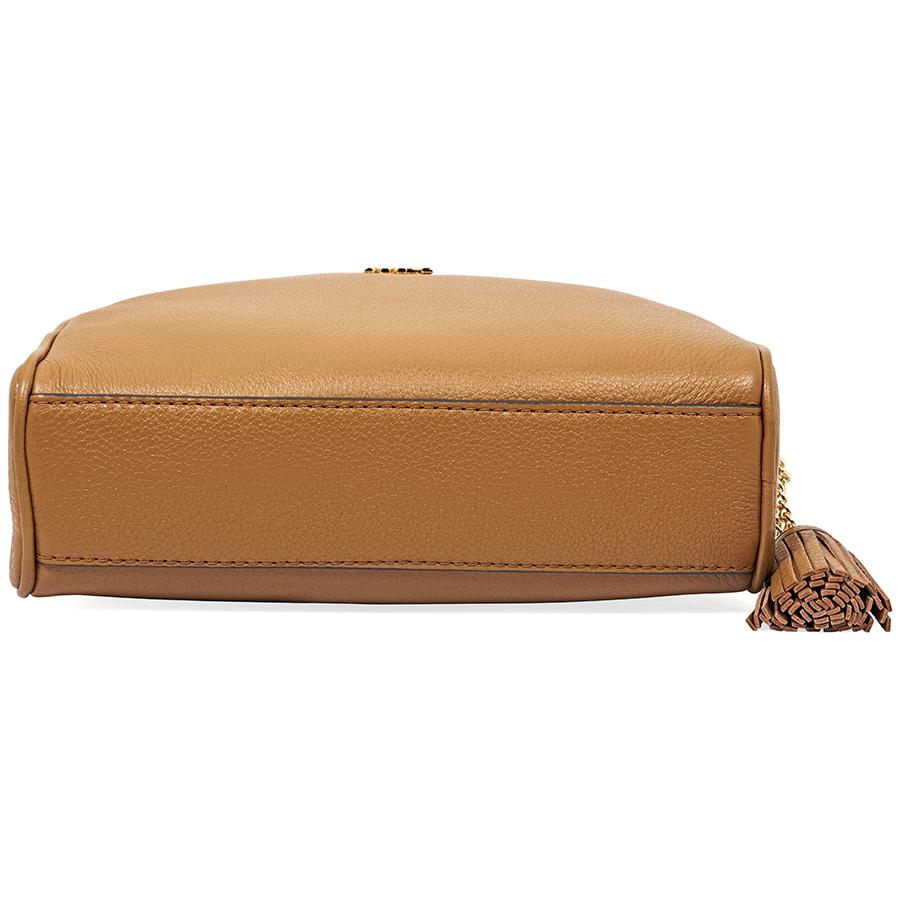 6348f95aaebb Michael Kors Ginny Pebbled Leather Half-Moon Crossbody Bag - Choose ...