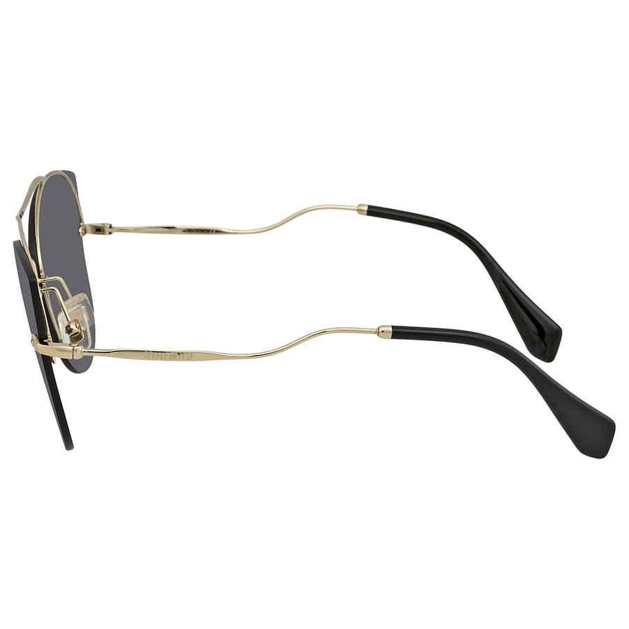 e87c98190f 2 of 3 Miu Miu Grey Cat Eye Ladies Sunglasses 0MU 52SS ZVN1A1 62 0MU 52SS  ZVN1A1 62