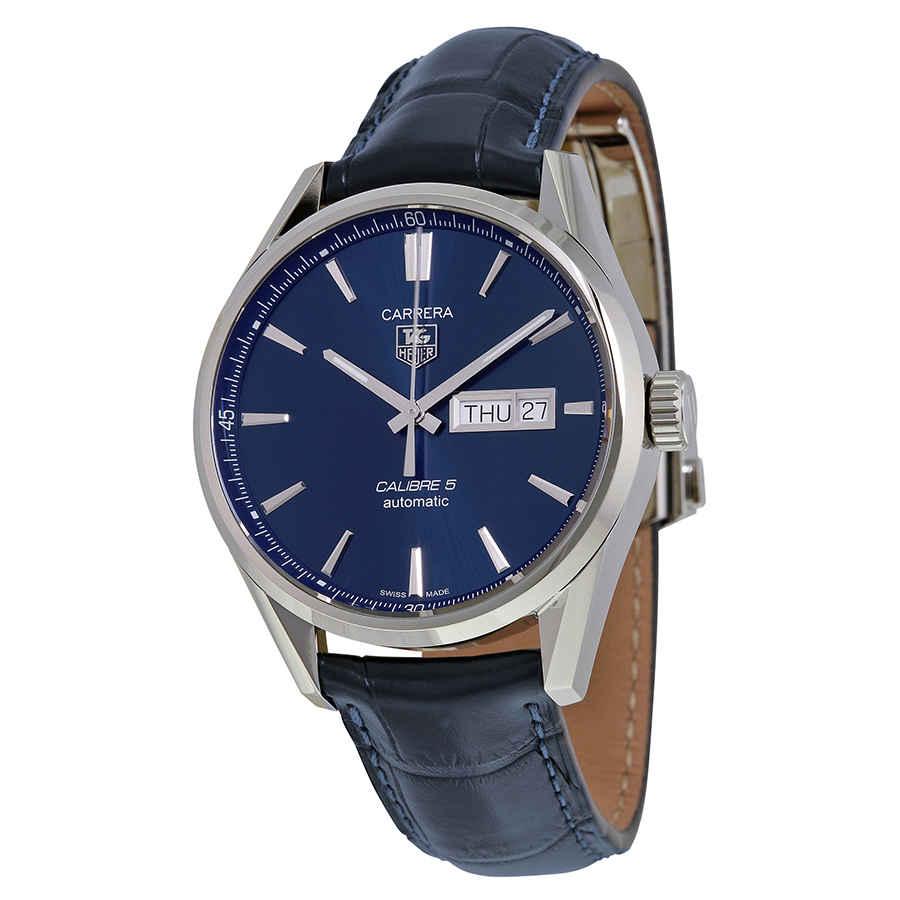 nueva colección 9f427 e8355 Tag Heuer Carrera Automático Esfera Azul Reloj para hombres ...