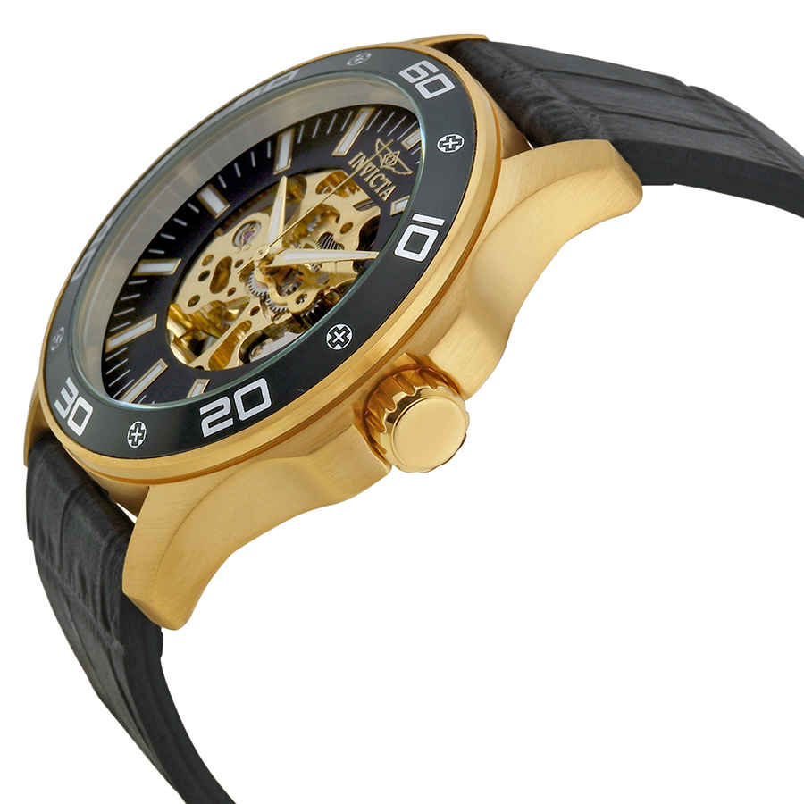 Invicta-Specialty-Mechanical-Skeleton-Men-039-s-Leather-Watch thumbnail 6
