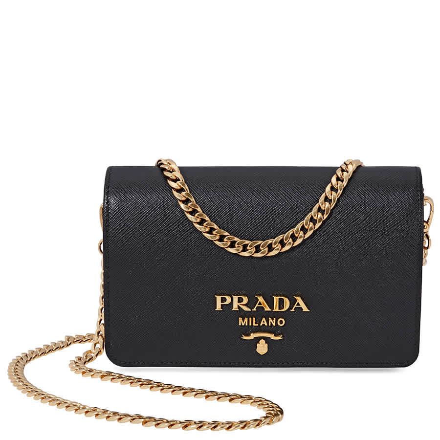 Prada Saffiano Leather Medium Shoulder Bag - Black 8050533217620   eBay 6bae9e5370