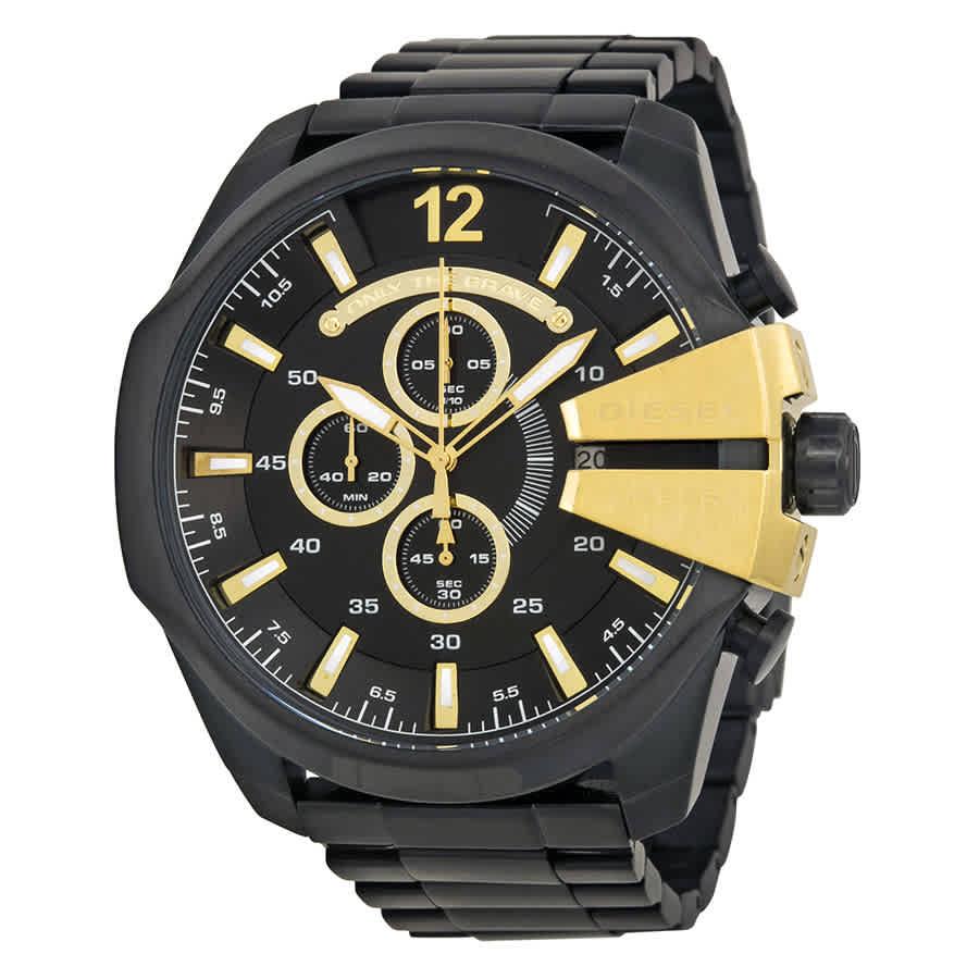 d53be1bec504 Diesel Mega Chief Chronograph Black Dial Men s Watch DZ4338 ...