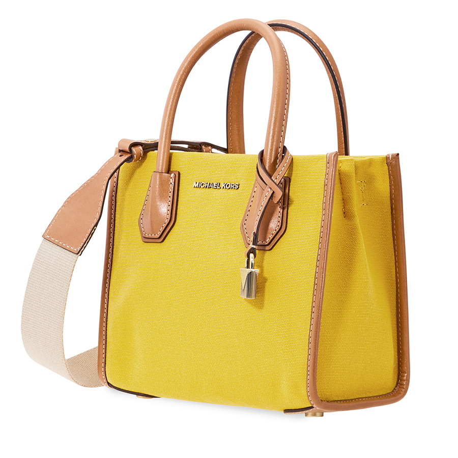 ef3bec1361be Michael Kors Mercer Crossbody- Yellow 30H8BM9M2C-717 | eBay