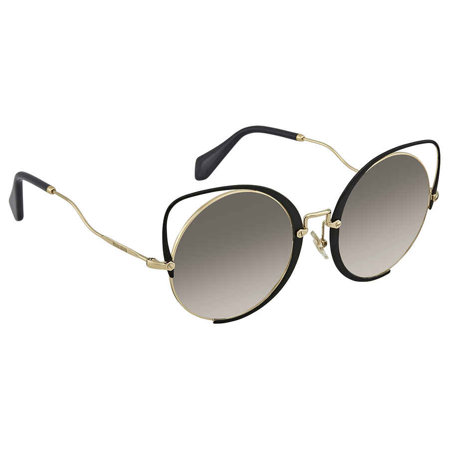 e1561095f8f Miu Miu Grey Gradient Round Ladies Sunglasses MU 51TS 1AB0A7 54 MU ...