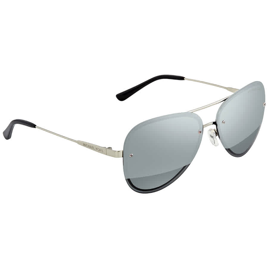 Michael Kors La Jolla Block Gunmetal Mirror Aviator Ladies Sunglasses  MK1026 11181Y 59 fe76ed4aa7