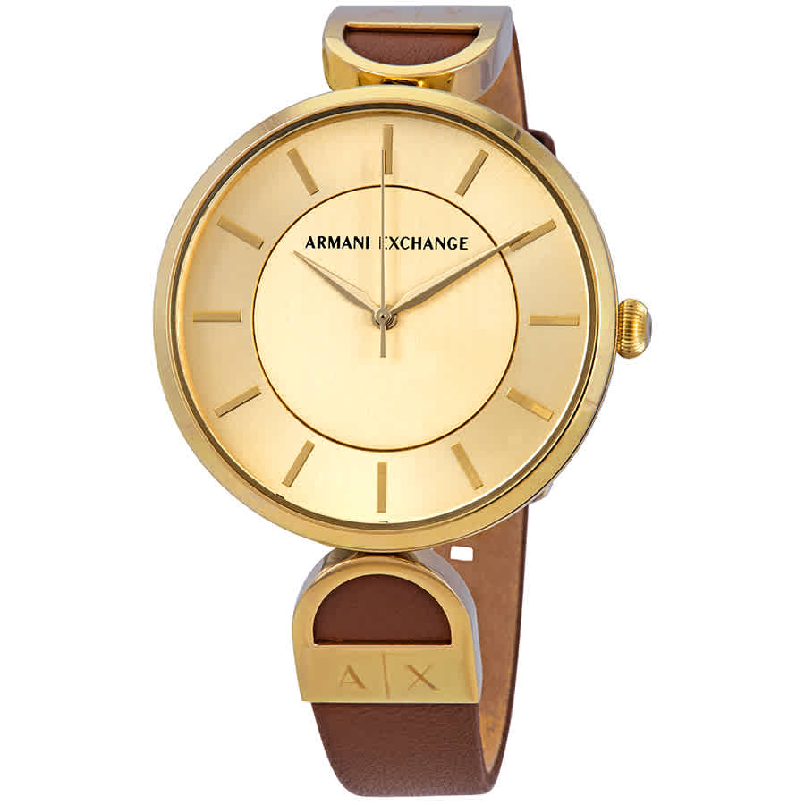 335c7f2781a6 Armani Exchange Gold Dial Ladies Watch AX5324 723763271257