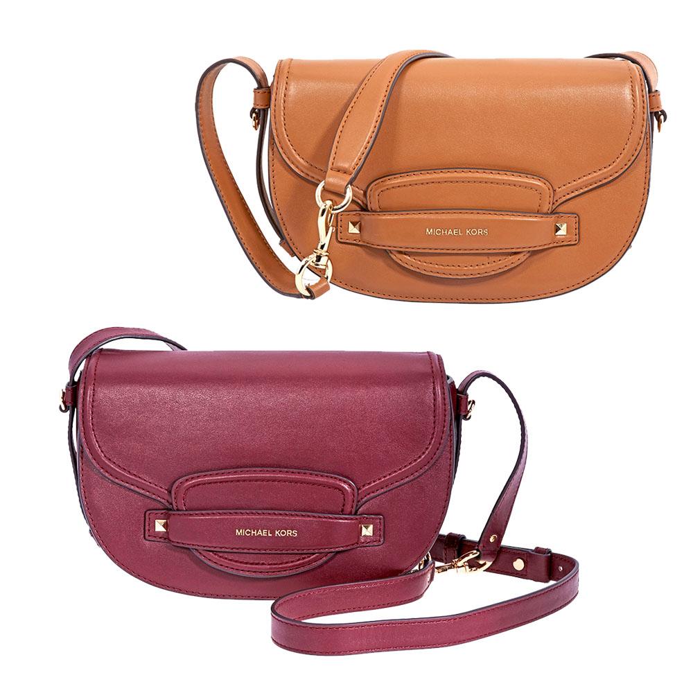 bf0a0cb40a05 Michael Kors Cary Medium Saddle Bag - Choose color | eBay
