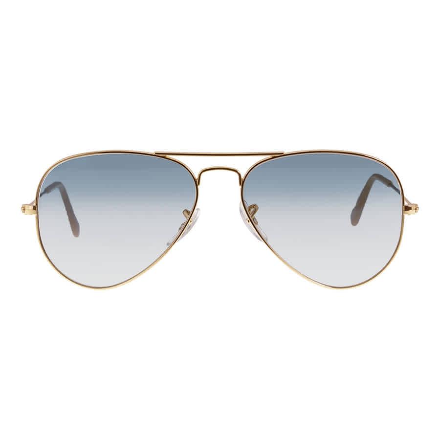 0e7bd23c8bfcb Ray-Ban Aviator Classic Sunglasses - Light Blue Gradient RB3025 001 ...