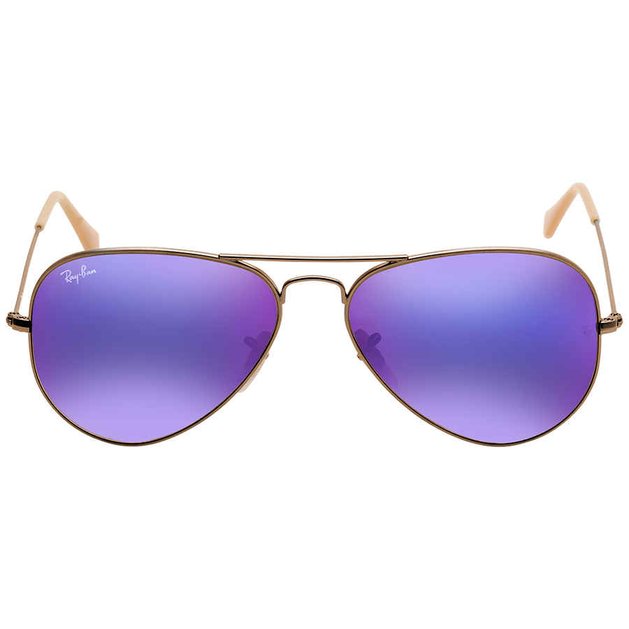 f18d3231ce3 Ray Ban Aviator Flash Lenses Violet Mirror Men s Sunglasses RB3025 167 1M 58
