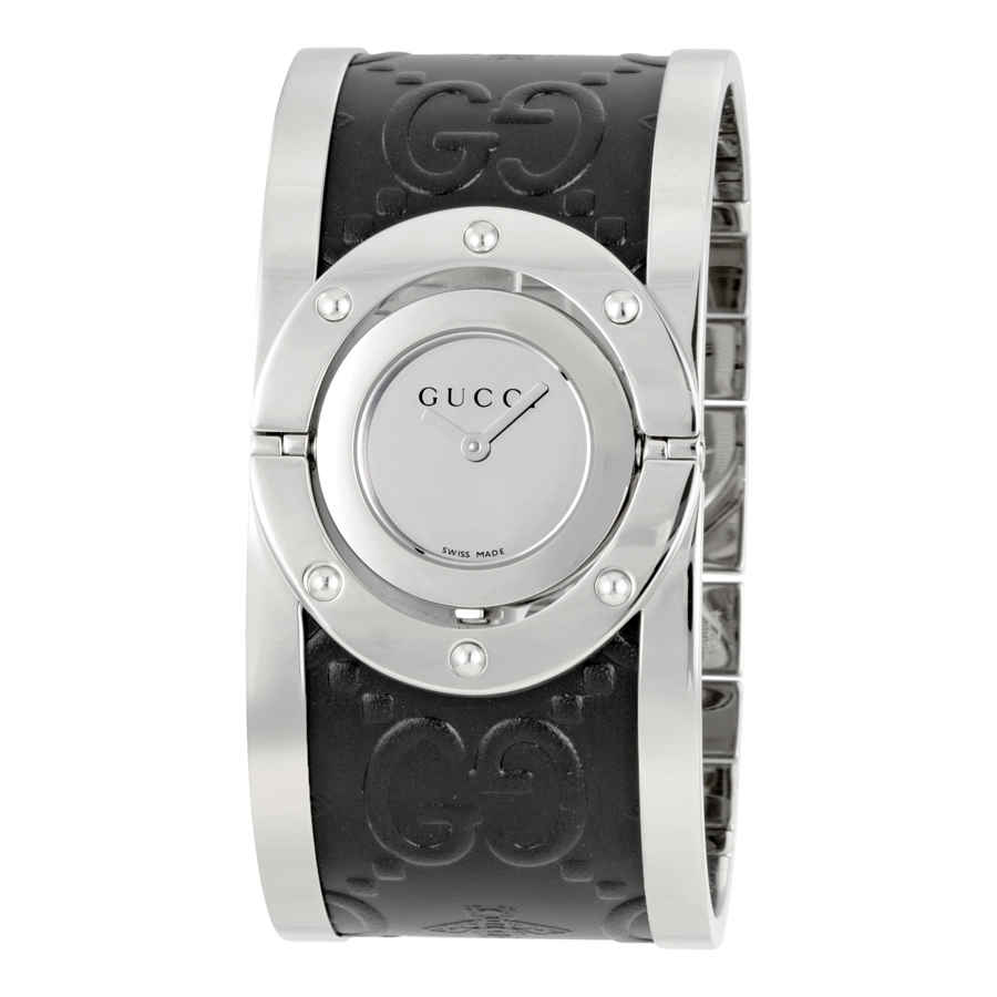 7e644afeedb Gucci Twirl Silver Dial Ladies Watch YA112441 731903366121