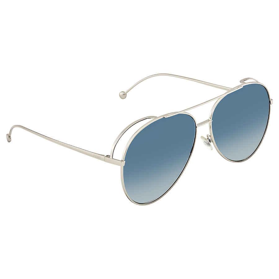 świetna jakość 100% najwyższej jakości za pół Details about Fendi Blue Gradient Aviator Sunglasses FF0286/S 010 63  FF0286/S 010 63